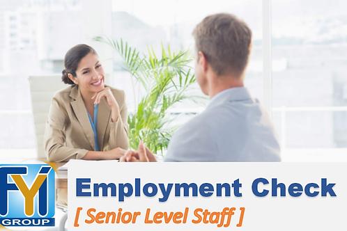 Employment Verification [Senior Level Staff]