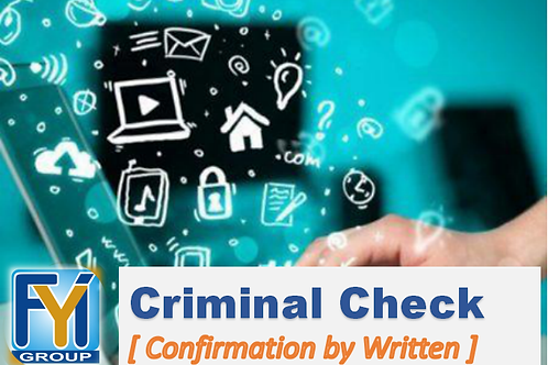 Criminal Record Check [ by Written letter]