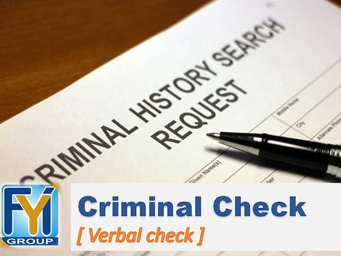 Criminal Record Check [ by Verbal ]