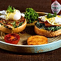 EGGS BENEDICT WITH CREAMY SPINACH