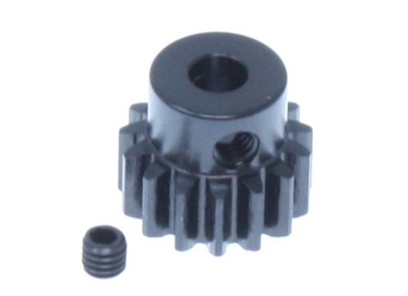 15t Steel Pinion Gear (Mod 1)(5mm bore)