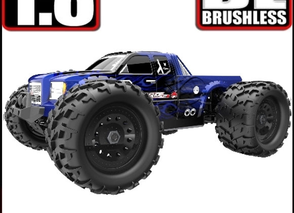 LANDSLIDE XTE 1/8 SCALE BRUSHLESS ELECTRIC MONSTER TRUCK (BATTERIES & CHARGER NO