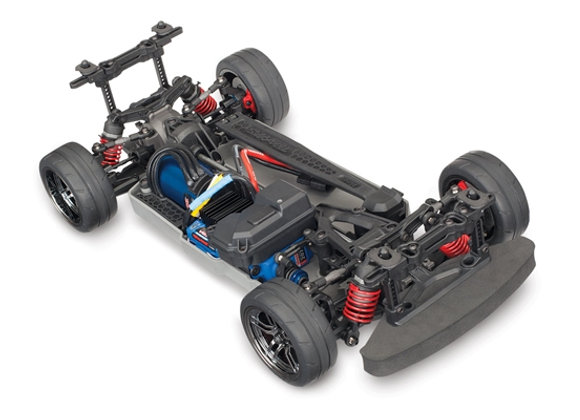 4-Tec� 2.0 VXL: 1/10 Scale AWD Chassis. Ready-To-Race� with TQi Traxxas Link