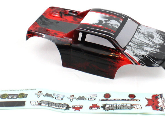 1/16 Rock Crawler Body, Red (Everest-16)