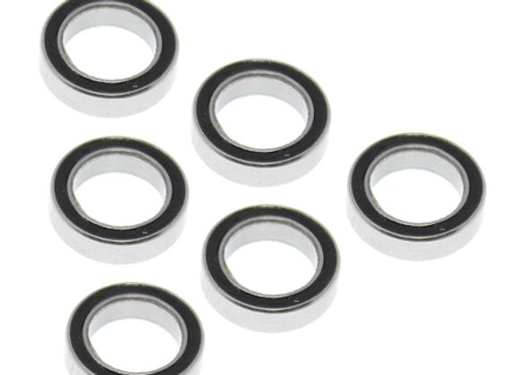 15*10*4mm Rubber Sealed Ball Bearings (6pcs)