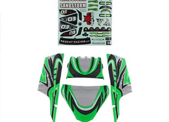 Lexan Body Panels, Green fits Sandstorm