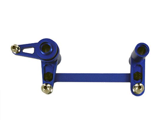 Aluminum Servo Saver and Bell Crank, Blue (Rampage Dune runner)