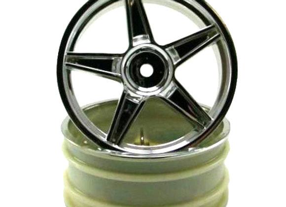 Chrome front 5 spoke wheels 2pcs fits SHOCKWAVE,TORNADO EPX/EPX PRO