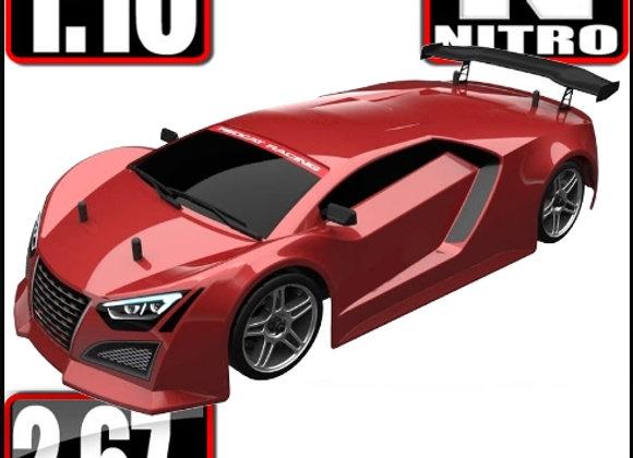 1/10 Scale Nitro On Road Car - Red - Box Damage, needs body (B)