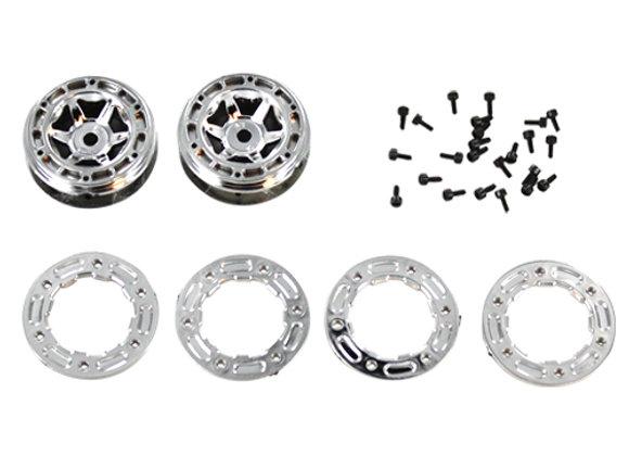 Wheel Rims + Wheel Frames + Cap Head Hex. Self Tapping Screw 1.5*4mm(24PC)