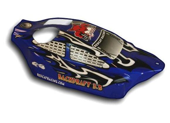 1/8 Backdraft Nitro Buggy Body Blue and Black