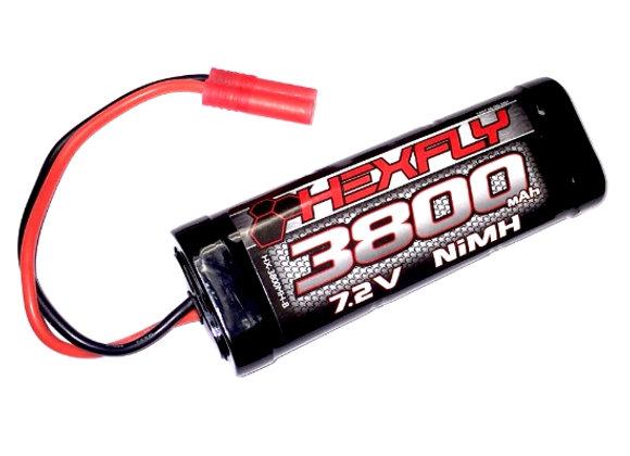 3800 Ni-MH Battery - 7.2V with Banana 4.0 Connector