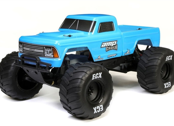 1/10 Amp Crush 2WD Monster Truck Brushed RTR, Blue (ECX03048T1)