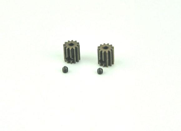 Motor Pinion Gears 12T + Set Screws 3*3mm(2P)-brushed