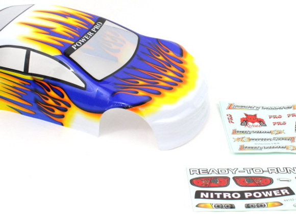 1/10 200 mm On road Car Body White Orange and Blue