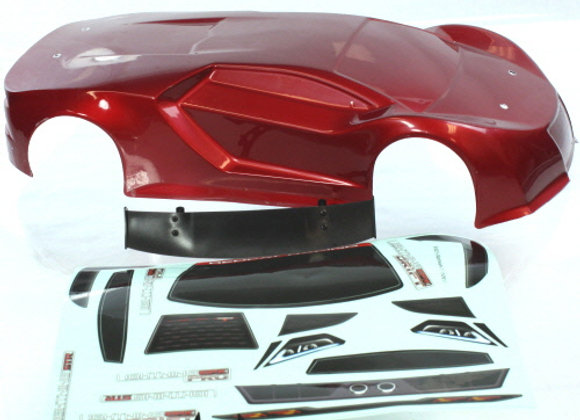 1/10 200mm Onroad Car Body Metallic Red
