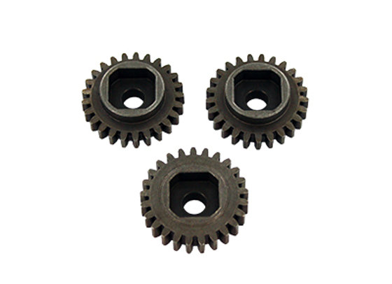 25T Steel Gear, Square Drive (3pcs)