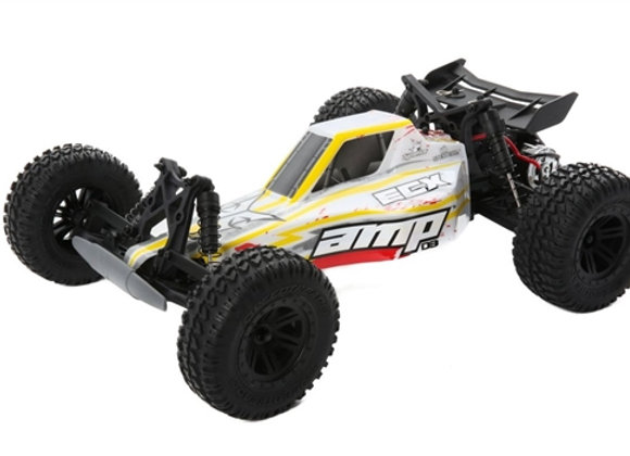 1/10 AMP DB 2WD Desert Buggy Brushed RTR, White/Red (ECX03029T2)