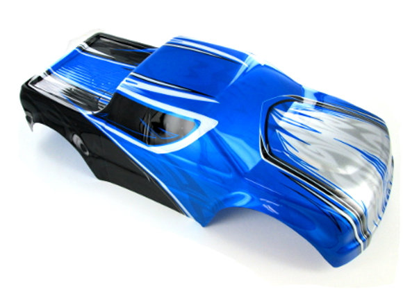 Monster Truck Body, Blue, Black, and Silver
