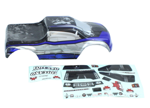 1/10 Truck Body, Blue/Silver (Volcano Epx/epx PRO, Volcano S30)