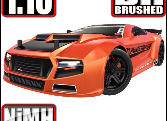 Thunder Drift On Road Belt Drive Car Metallic Orange    SD3772 - Box Damage (A)