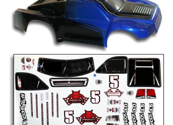 1/8 Short Course Truck Body Blue and Black