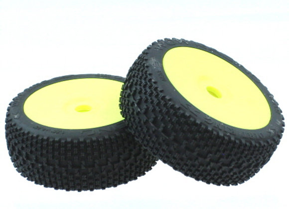 Wow Racing Tires, Pre mount (2) -No Color (Ready to run vehicles)