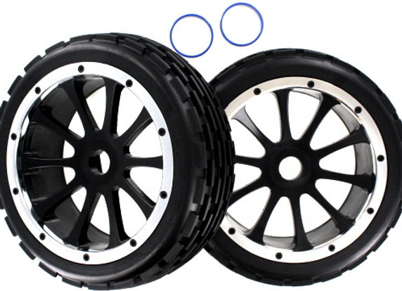 Front Wheels and Tires 2pcs (Rampage Dunerunner)