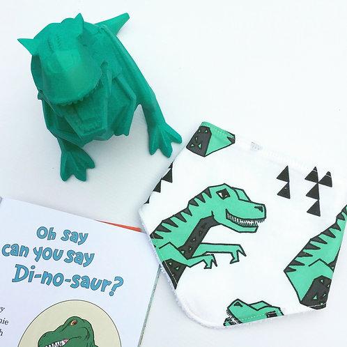 Geo Dinosaur bandana bib