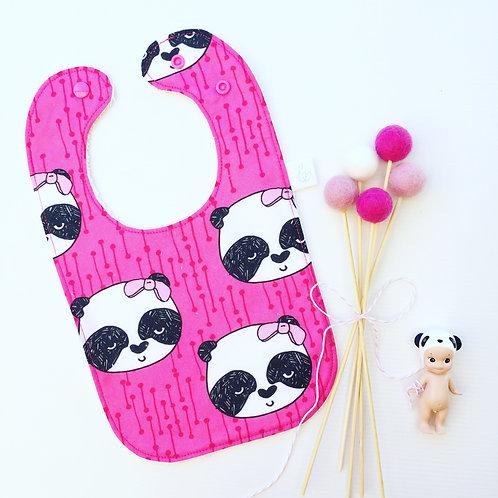 Pink Panda bib