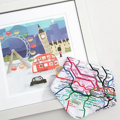 London Tube Map Bandana Bib