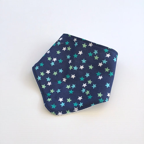 Navy stars bandana bib