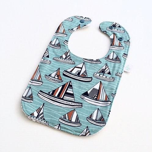 Seaside boats bib
