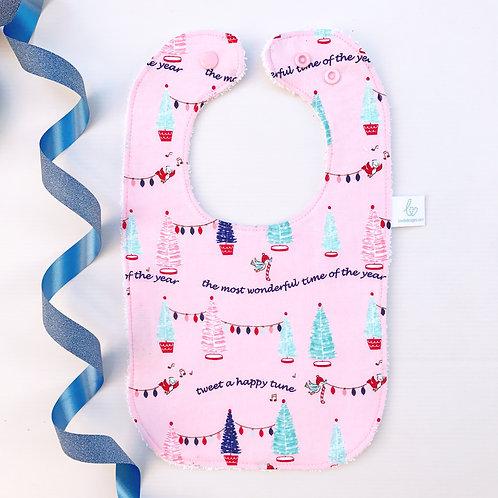 Wonderful Pink Christmas Bib