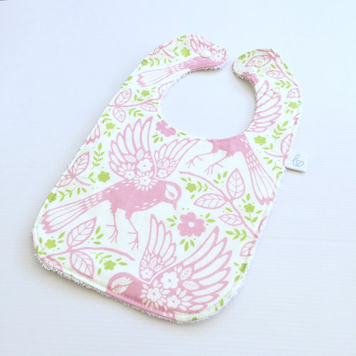 Meadowlark in pink bib