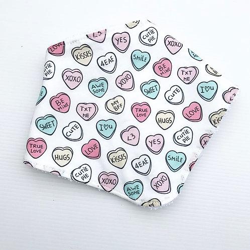 Sweet hearts bandana bib