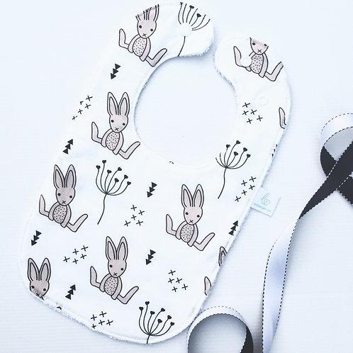 Soft bunny bib