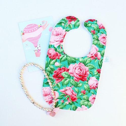 Rose Garden Ocean Bib