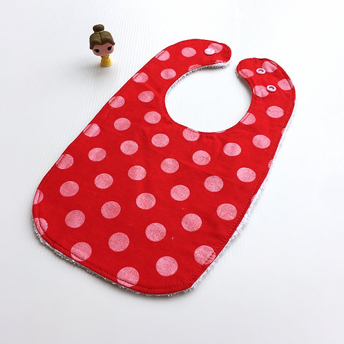 Red with pink shimmer Hollywood bib