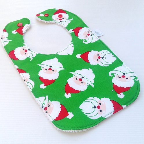 Santa Heads Bib