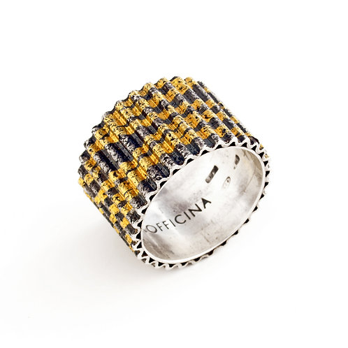 Pure gold and silver ring. Online selling