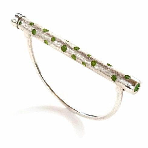 Bracciale in argento e plexiglass. Gioielli vendita online
