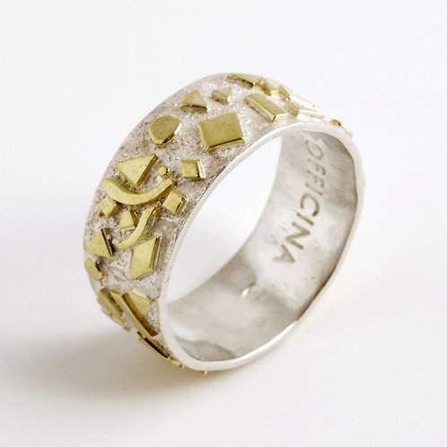 Gold and sterling silver ring. Jewelry craft Shop online Florence