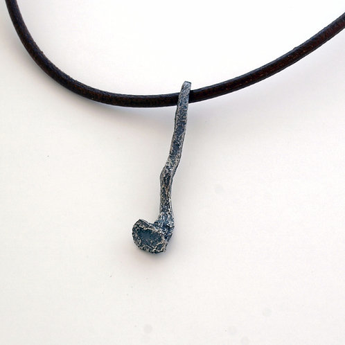 Pendant in oxidized silver. jewelry sale online Florence