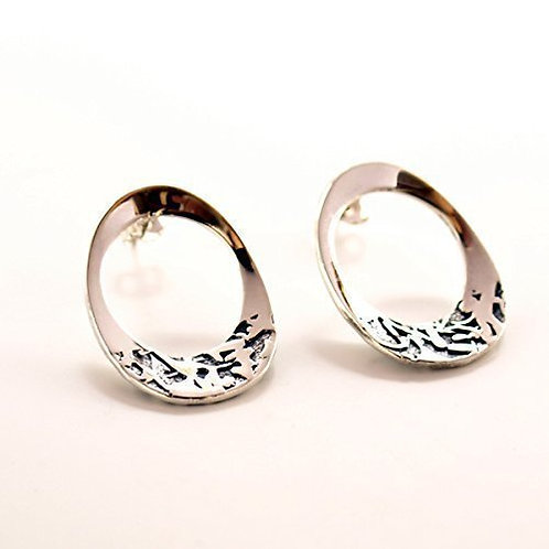 Silver earrings. Florence Jewellery craft shop online