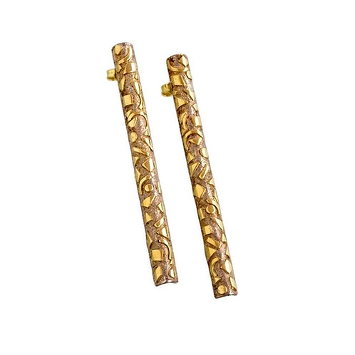 Earrings in 18kt gold and sterling silver. Jewelry Shop online Florence