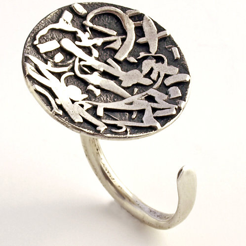 Oxidized Sterling silver ring. Florence Jewelry sale online
