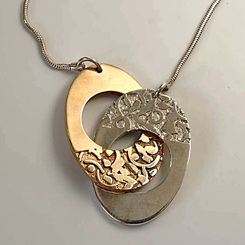 Sterling Silver and bronze pendent. Florence Jewellery online sale