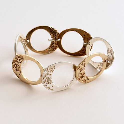 Silver and bronze bracelet. Florence Jewellery shop online