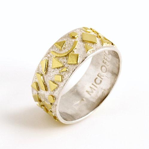 Anello in oro e argento. Gioielli Firenze vendita online